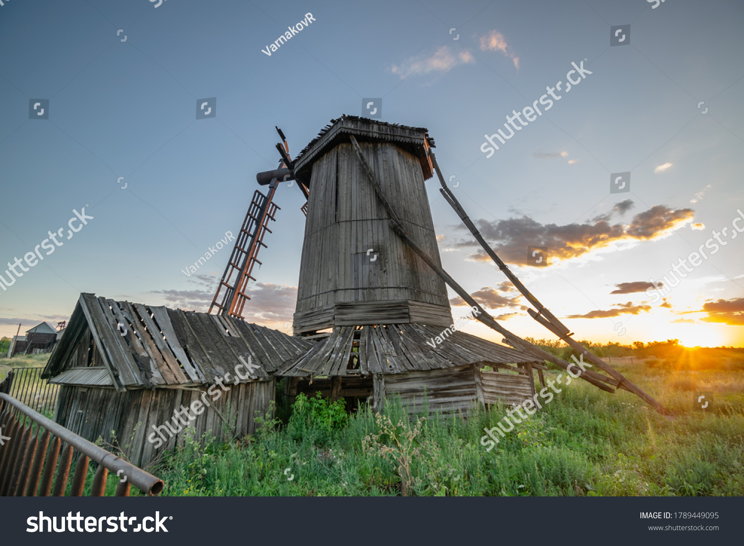 stock-photo-old-abandoned-wooden-wind-mi
