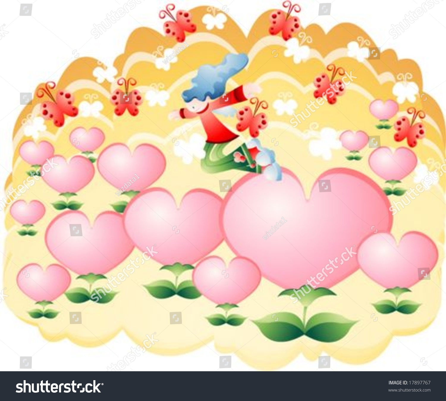 Jesus Christ Christian Pretty Young Girl Stock Vector (Royalty Free ...