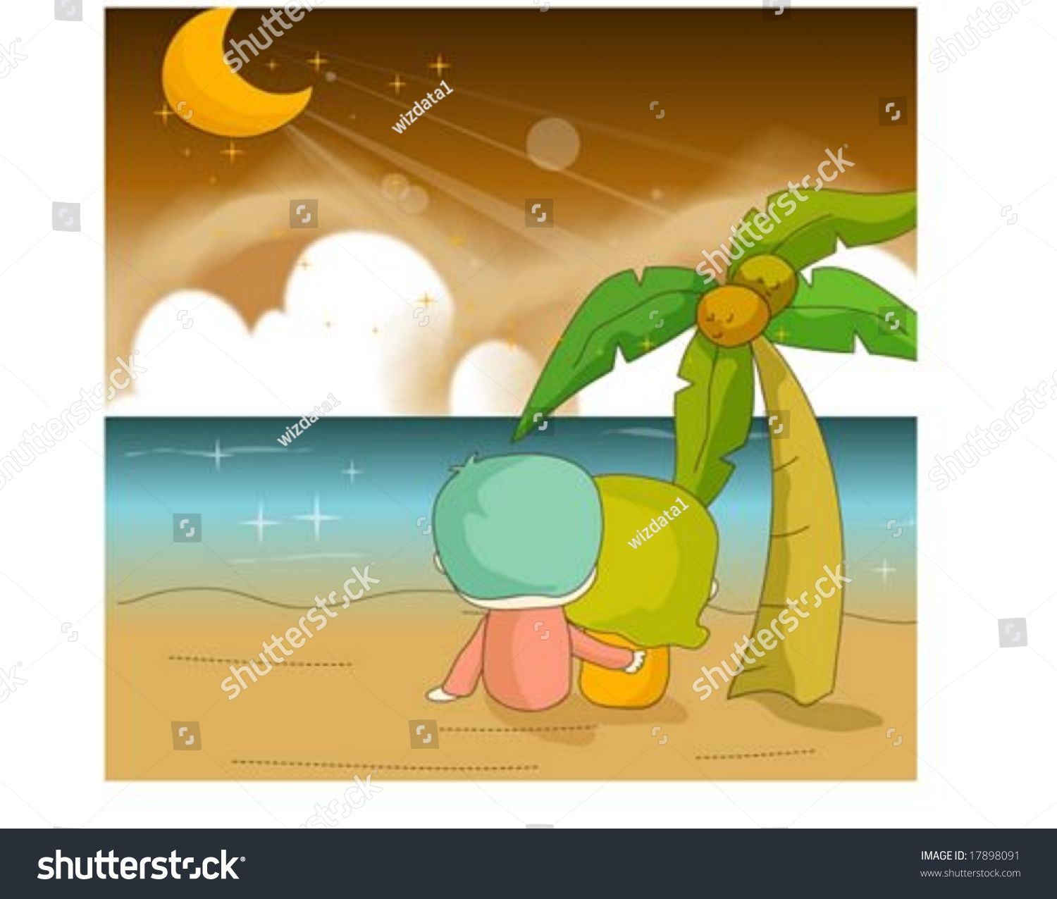 Happy Days Cute Friends Traveling Lovely Stock Vector 17898091