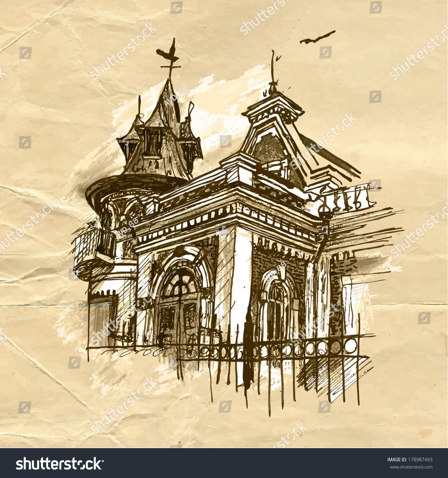 Klodt Mansion Samara Stock Vector 178987493 Shutterstock