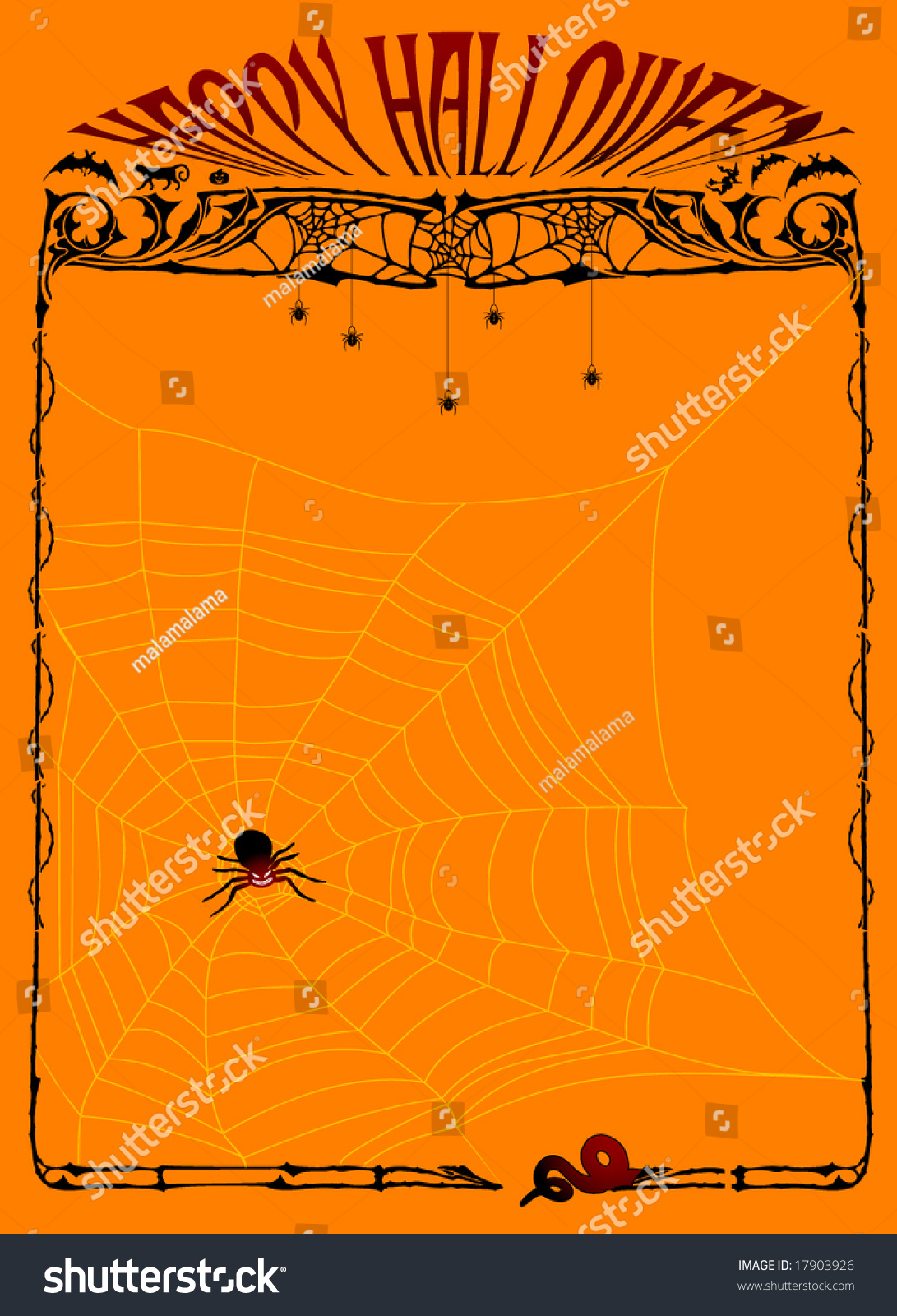happy halloween page template for invitation book cover happy halloween page template for invitation book cover stationary spider and spiderweb theme stock vector illustration 17903926 shutterstock