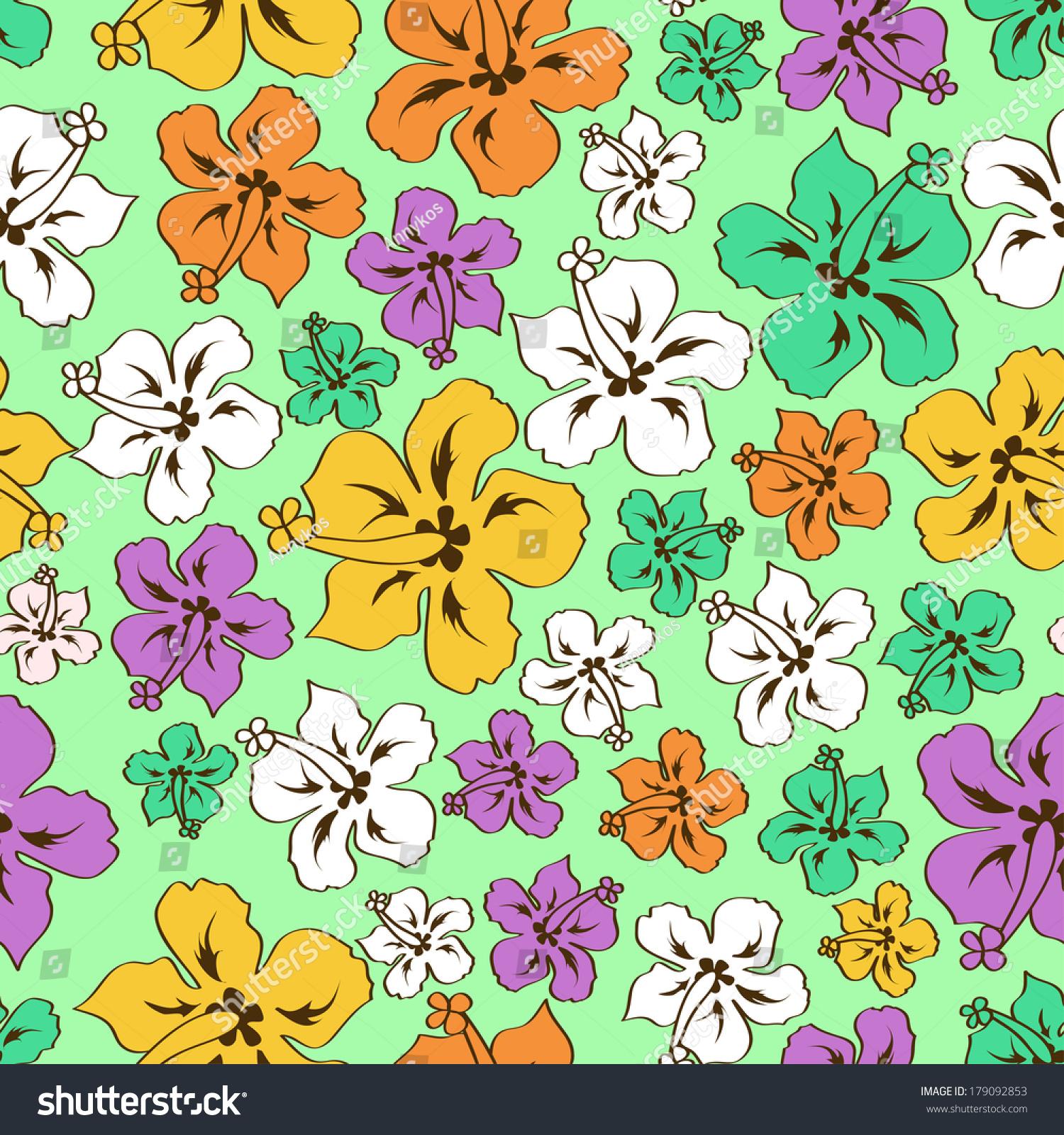 Hibiscus Flower Pattern Ez Canvas