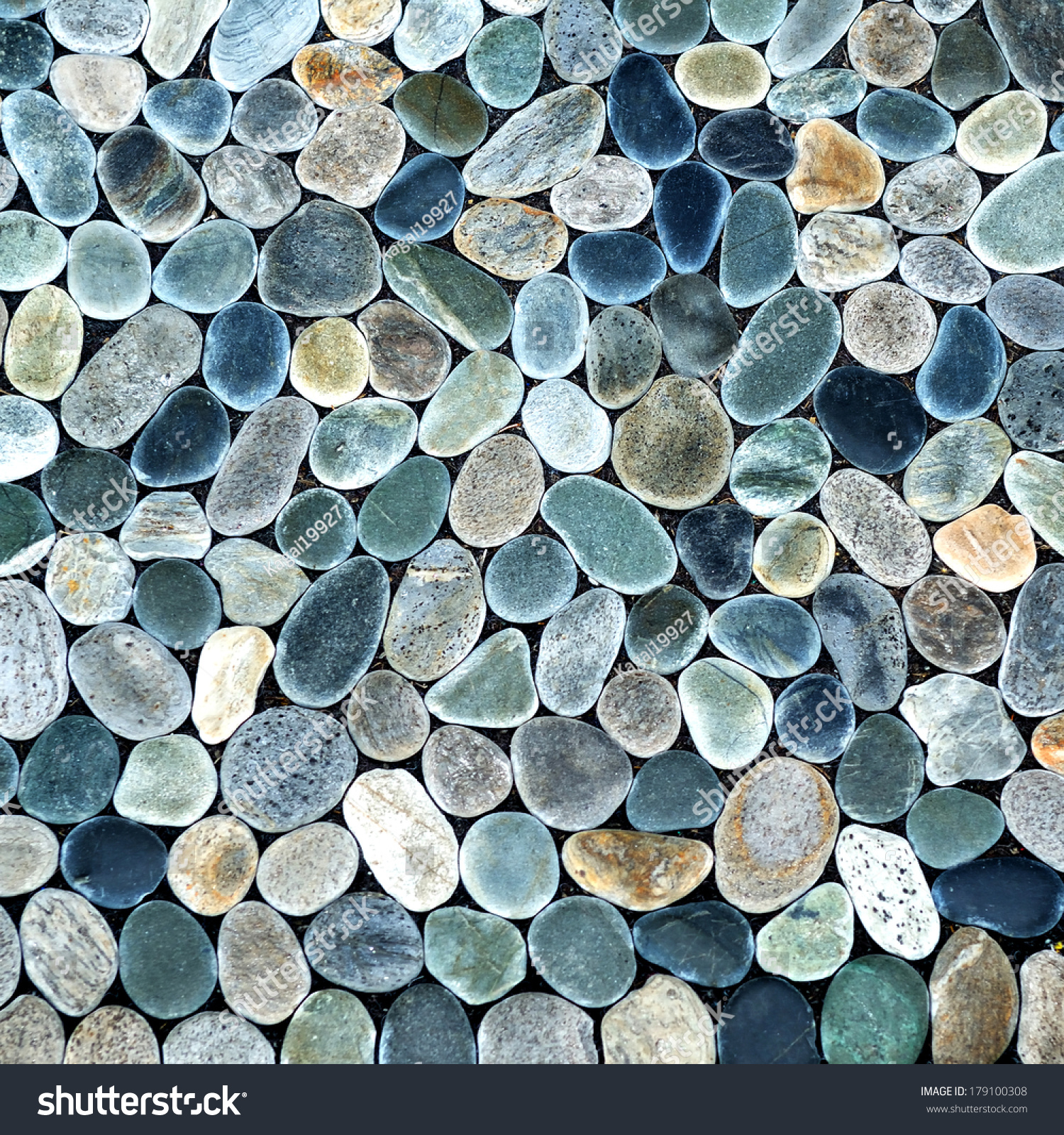 Smooth shaped white stones surface texture background stock photo - Natural Stone Pebble Texture Background Surface Wall Decoration Backdrop Pattern Rock Garden