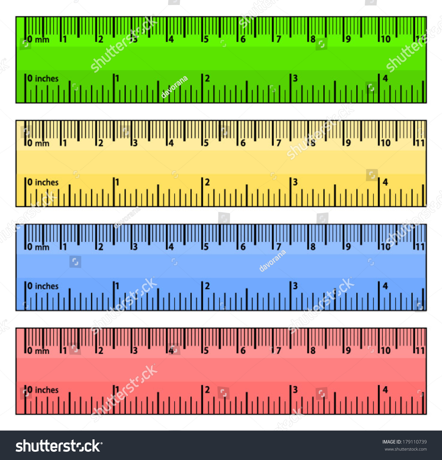worksheet Measuring In Centimeters set colorful rulers measured centimeters inches stock vector of in and blue yellow red
