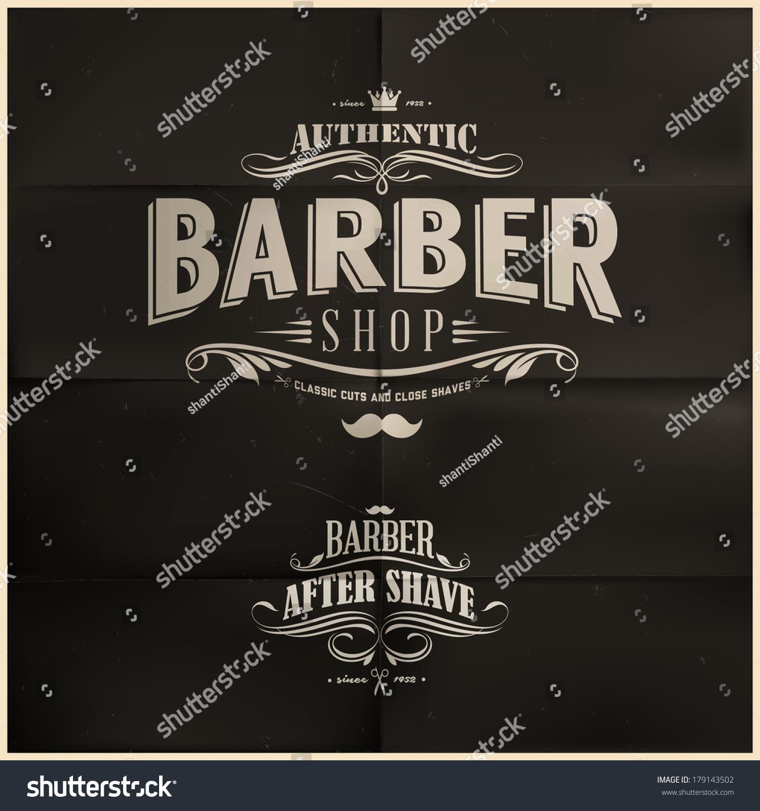 Barber Shop Vector Price List Template Stock Vector 377204692 - Vintage barber shop vector free