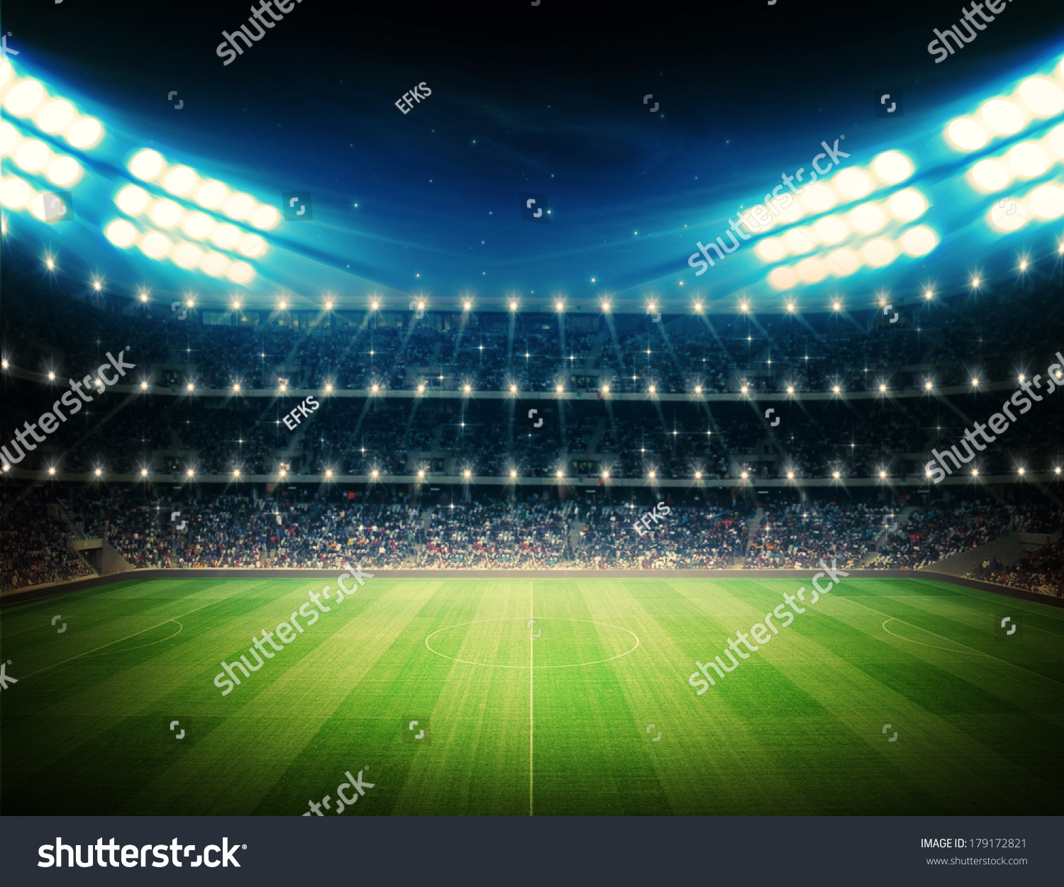 Football Stadium Night Lights: Stadium Stock Illustration 179172821