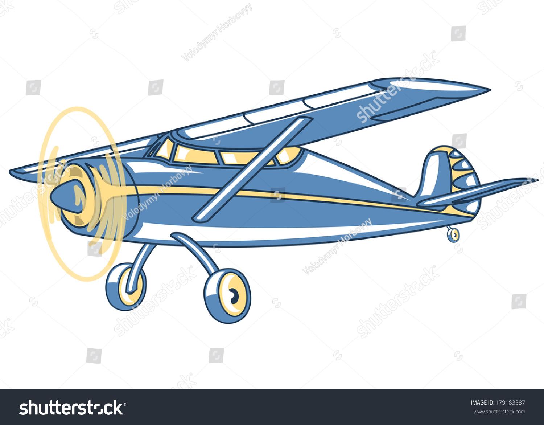 Cartoon Retro Airplaneillustration Clip Art Stock Vector ...