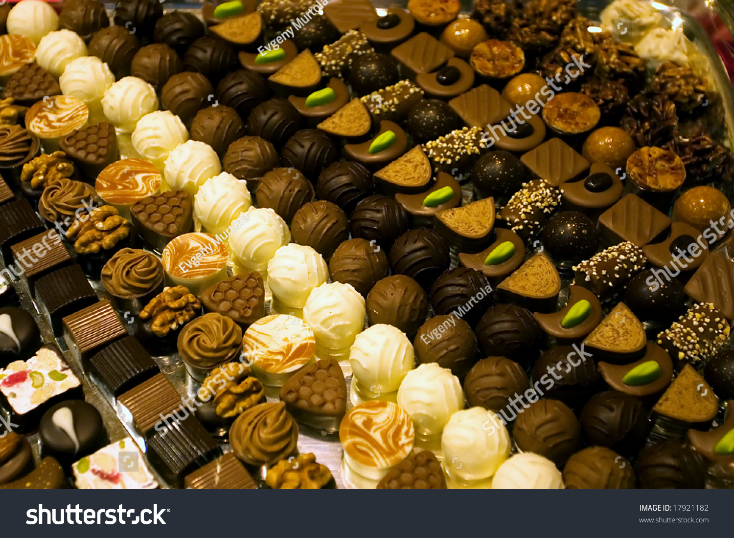 Collection Fine Swiss Chocolate Showwindow Stock Photo 17921182 ...