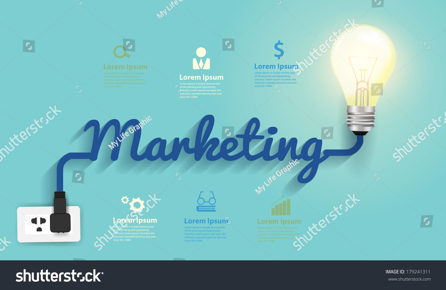 Marketing Concept Creative Light Bulb Idea Stock Vector Royalty Diagram Of Incandescent Abstract Infographic Layout Step Up Options