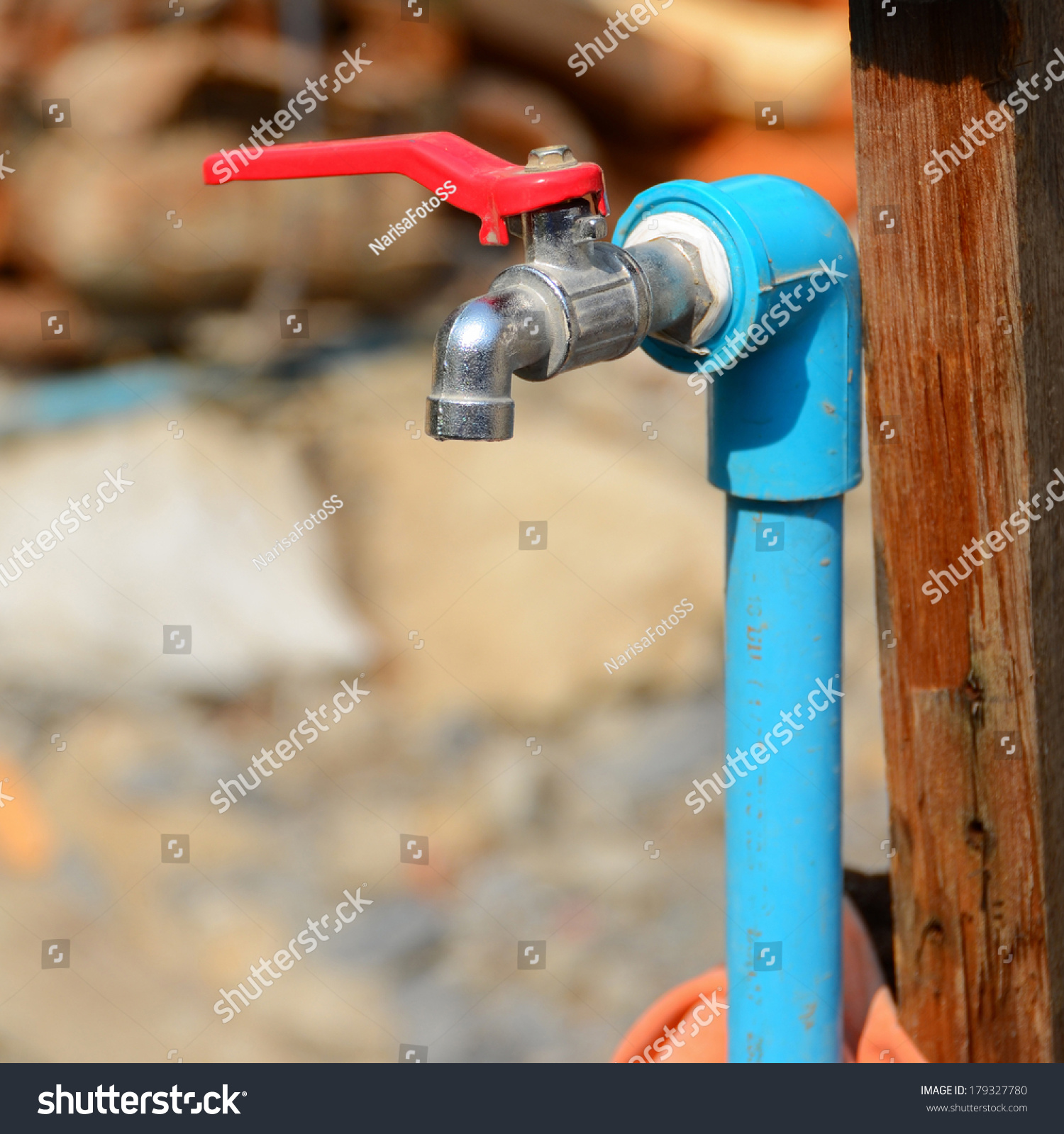 Faucets PVC Pipe Installation Use Stock Photo (Edit Now)- Shutterstock