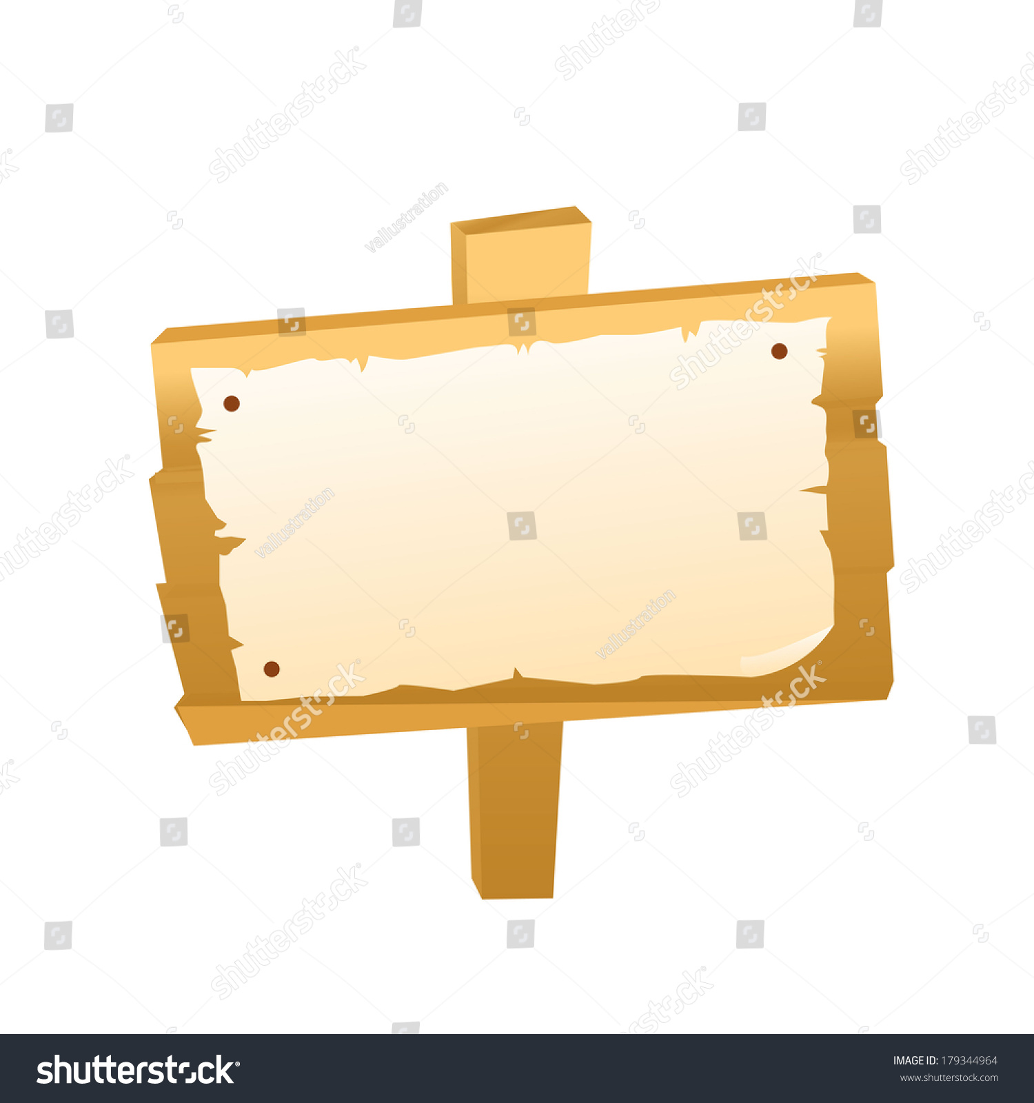 Blank Signboard Template Background Others Stock Vector 179344964 ...