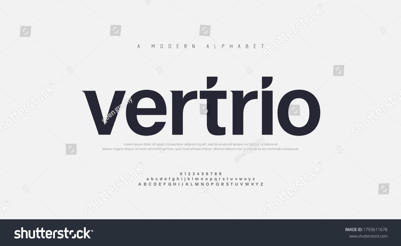 Abstract modern urban alphabet fonts. Typography sport, technology, fashion, digital, future creative logo font. vector illustration #1793611678