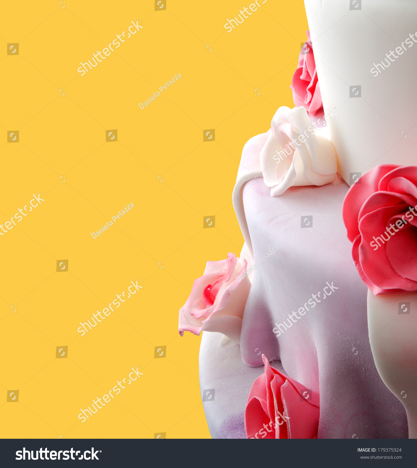 Detail Wedding Cake Red Roses On Stock Photo (Edit Now) 179375924 ...