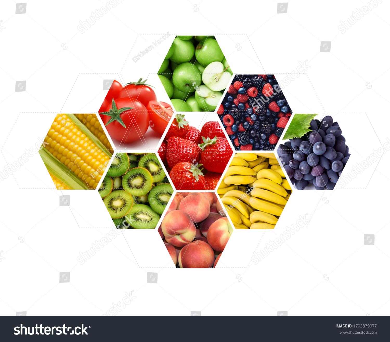 stock-photo-fresh-fruit-into-hexagonal-s