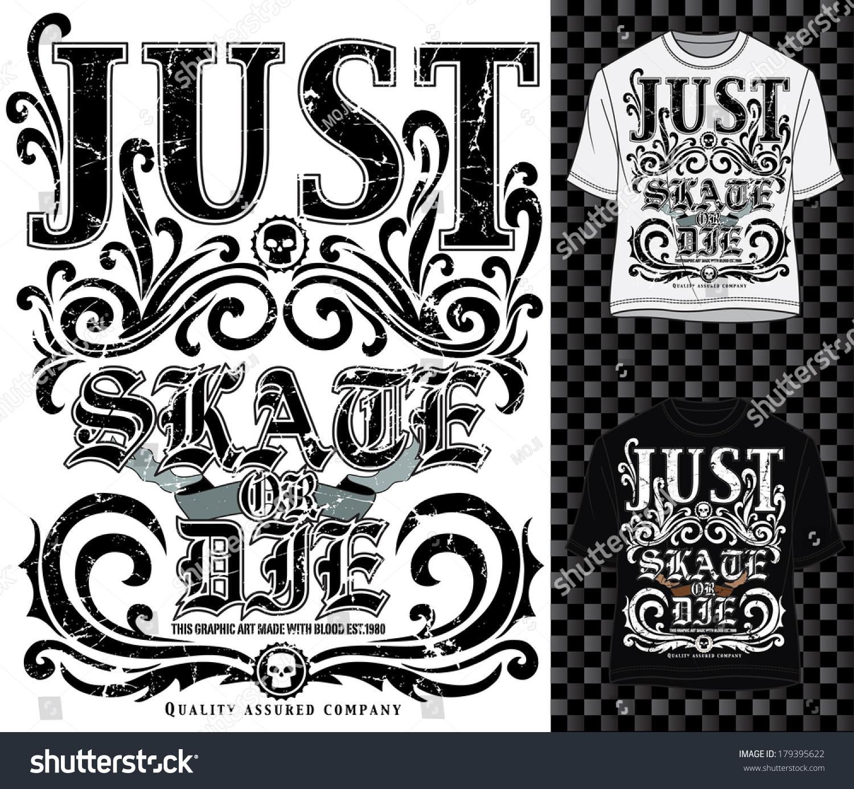 Free t-shirt design - T Shirt Design Vector Graphics Skater