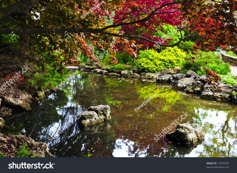 Pond Natural Stones Japanese Zen Garden Stock Photo (Royalty Free ...