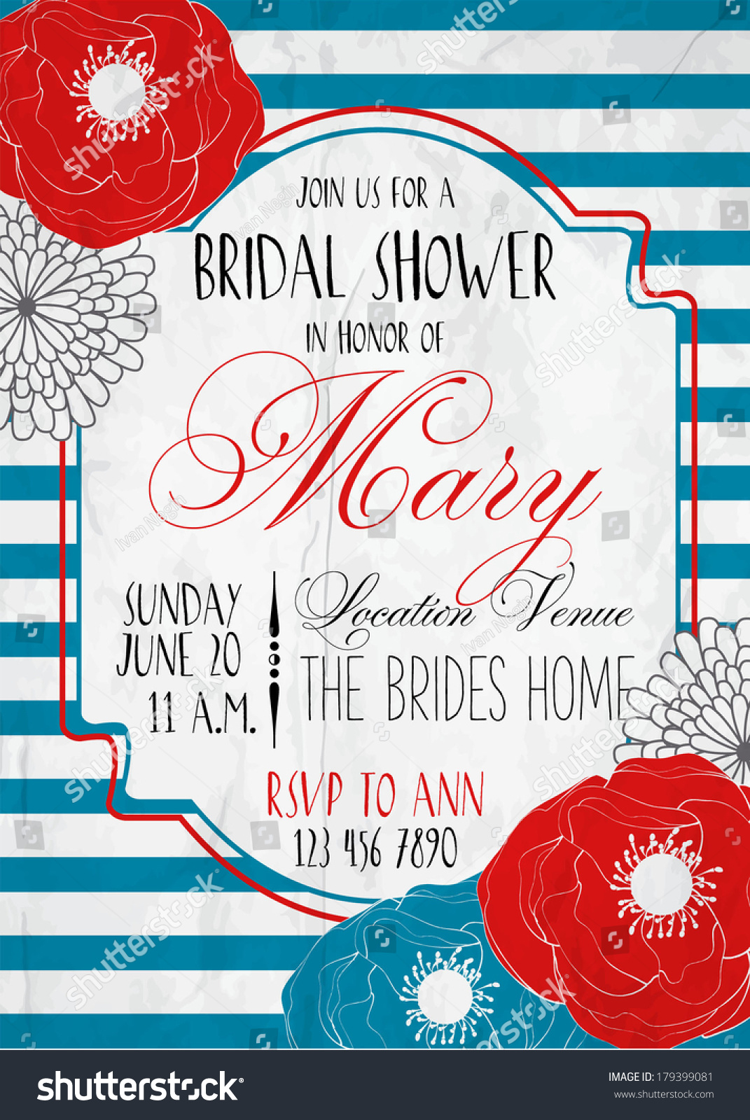 Bridal shower card stock vector 179399081 shutterstock bridal shower card kristyandbryce Image collections