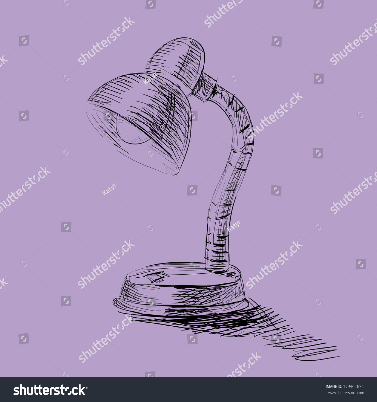 Table lamp for drawing - Table Lamp Hand Draw