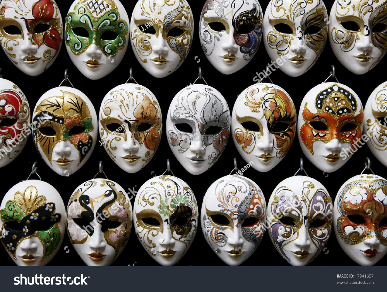 Display Of Decorative Venetian Carnival Masks Stock Photo 17941657 : Shutterstock