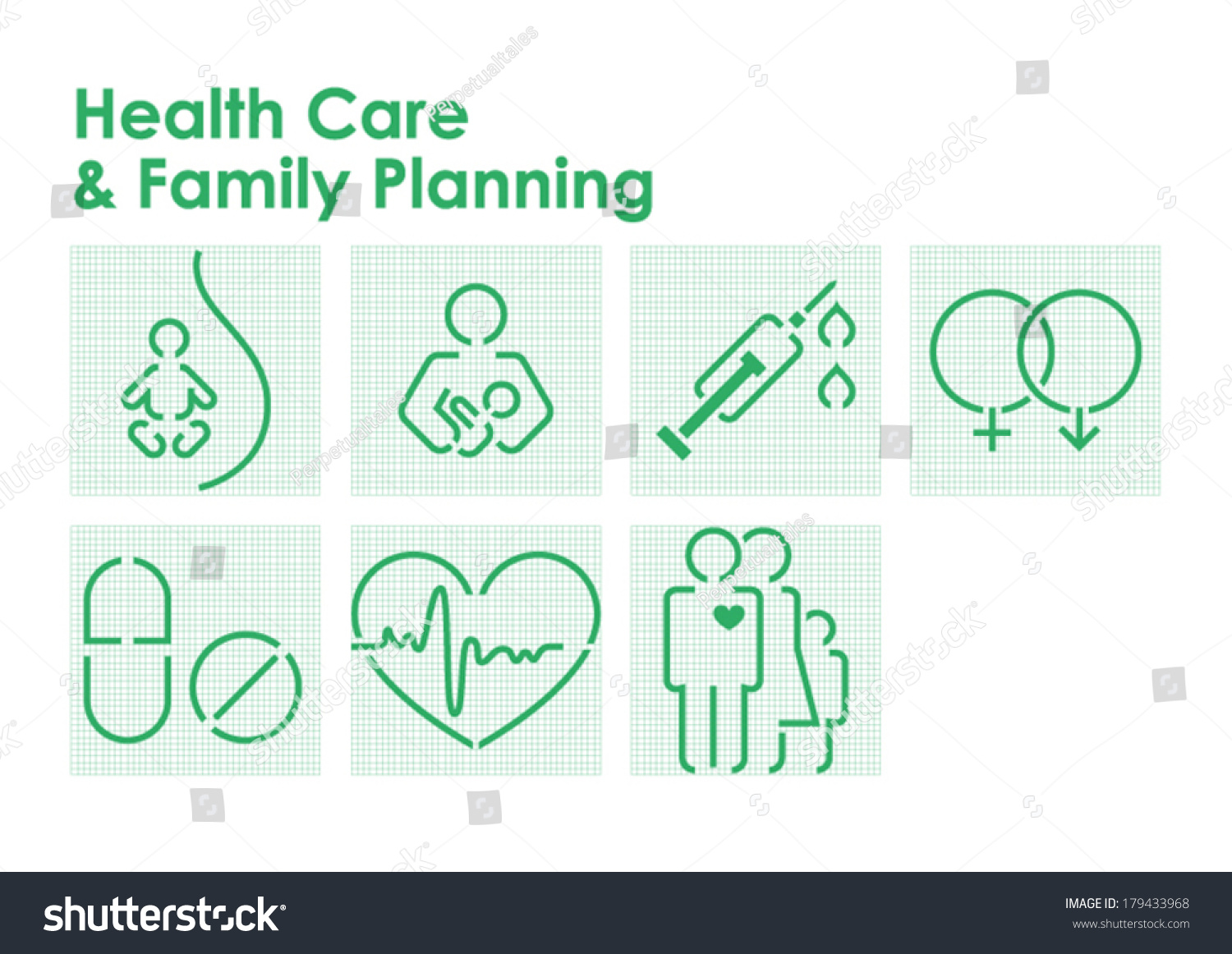Health Care Family Planning Symbols Stock Vector 2018 179433968