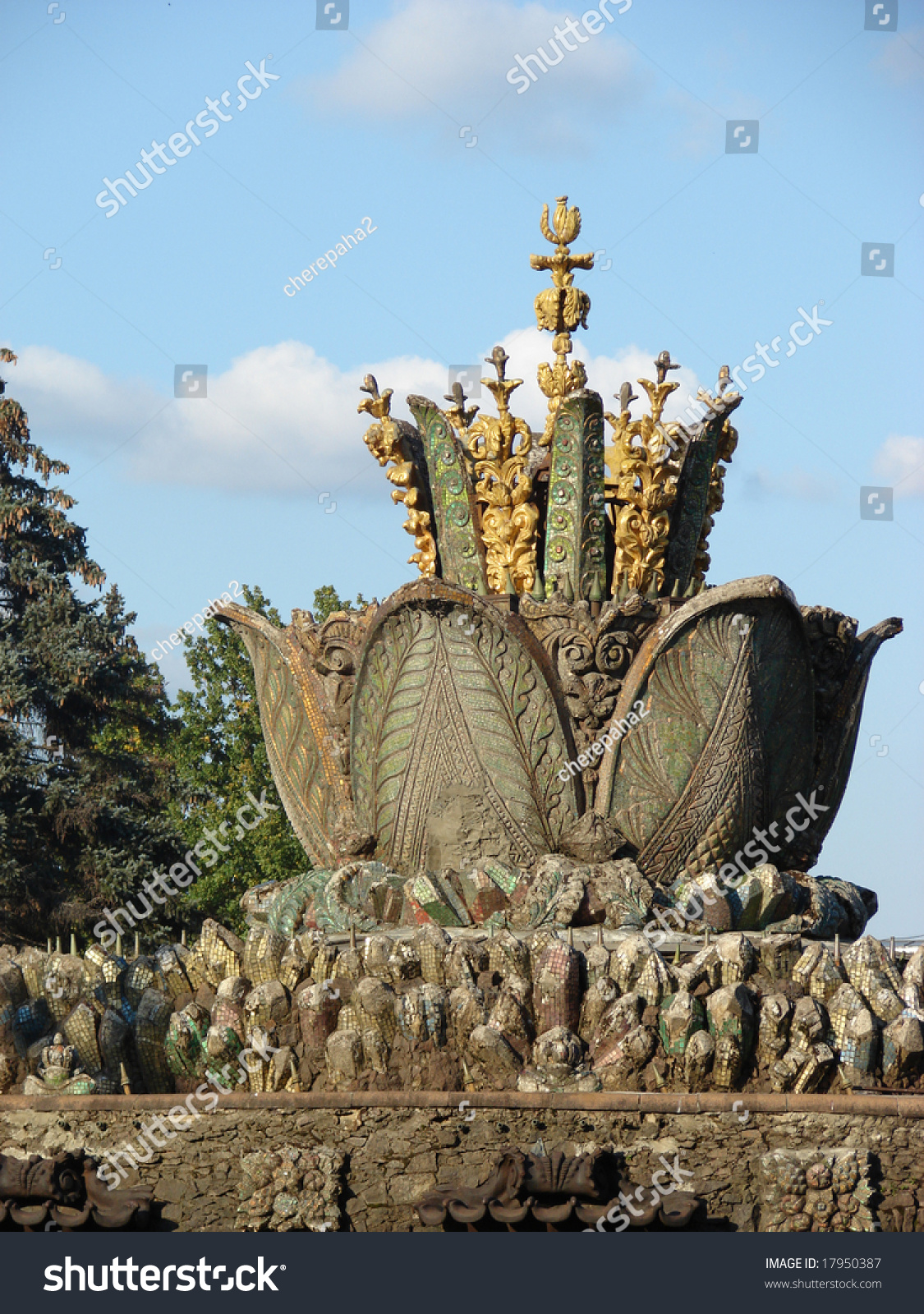 Moscow big decorative fountain form lotus stock photo 17950387 the big decorative fountain in the form of a lotus flower from a dhlflorist Images