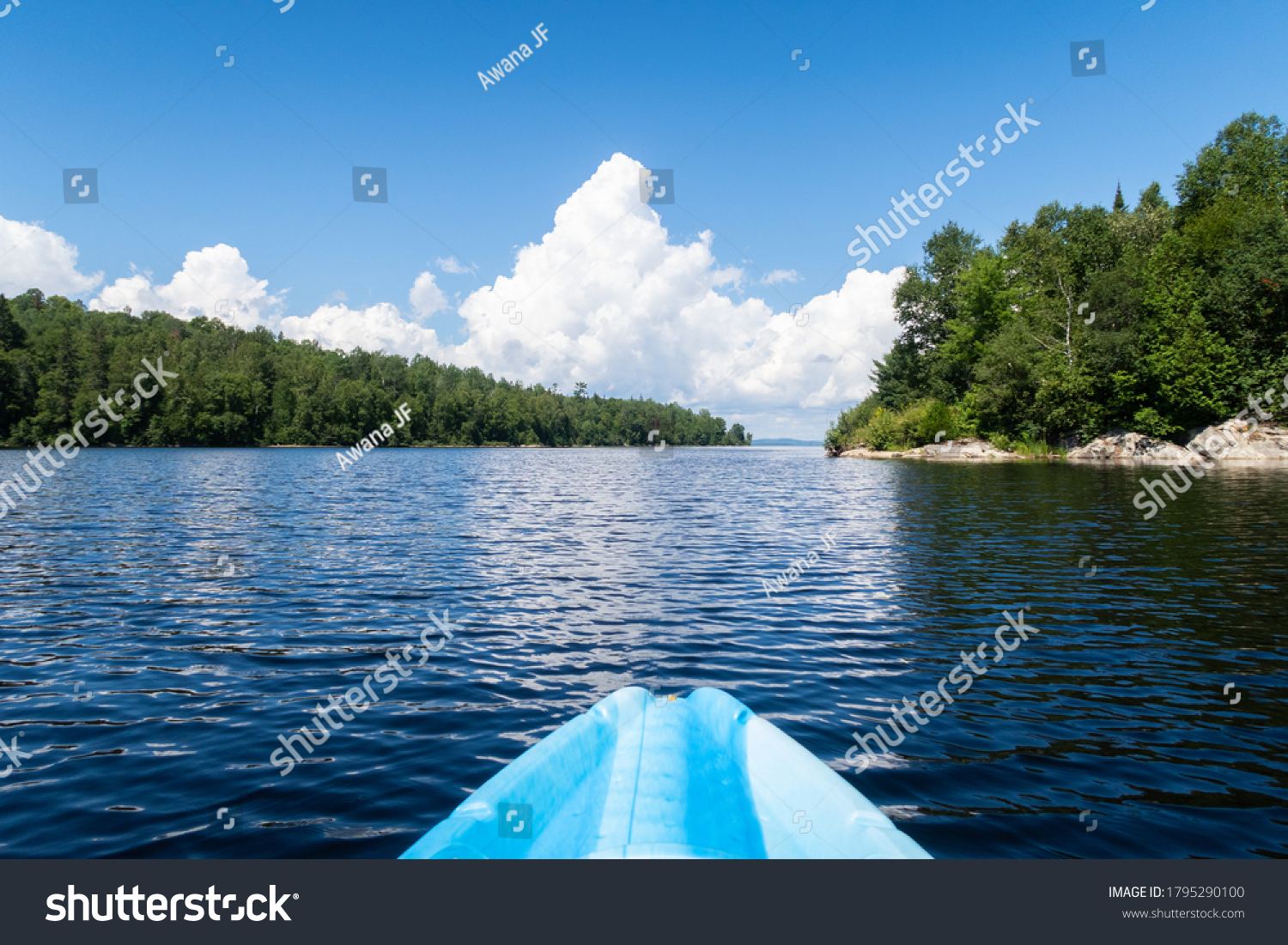 stock-photo-view-of-the-front-of-a-kayak