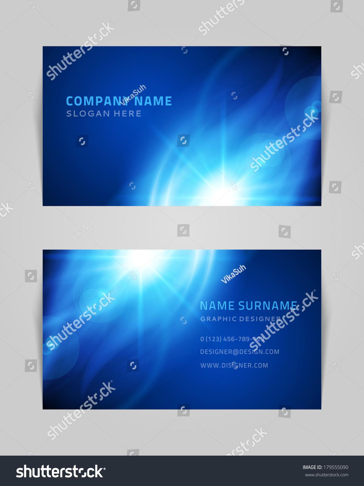 Vector Abstract Creative Business Card Design Stock Vector 179555090