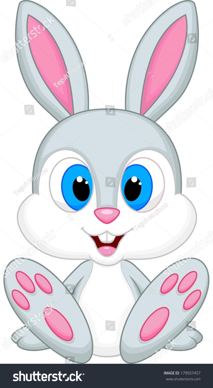 Cute Baby Rabbit Cartoon Stock Illustration 179557457 ...