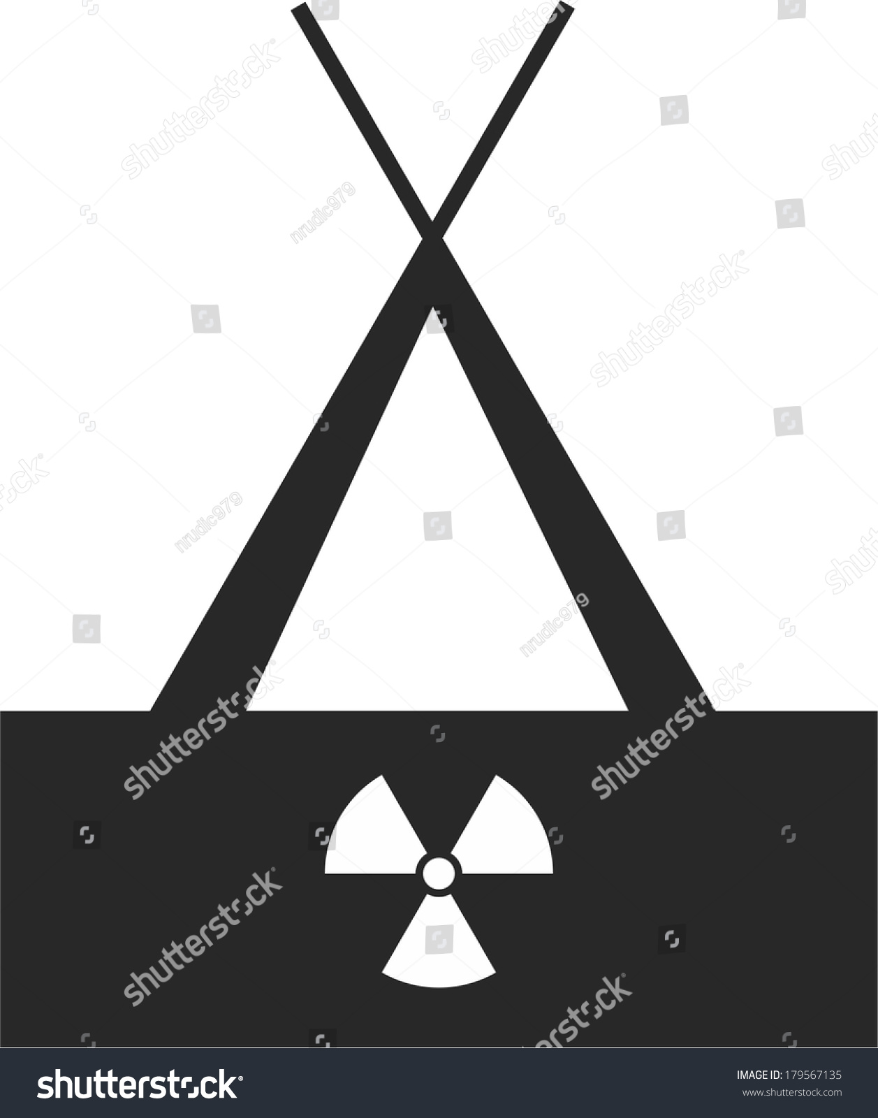 Nuclear Shelter Safe Zone Stock Vector Royalty Free 179567135