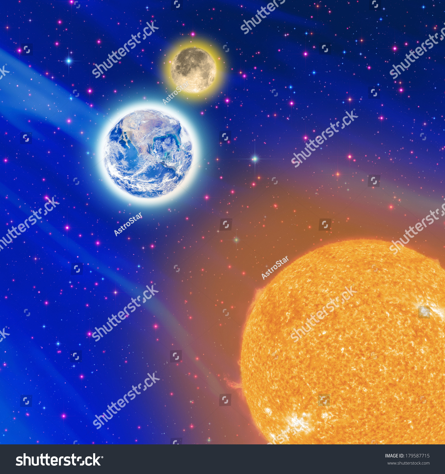 Worksheet The Sun And Stars satellite view on sun moon earth stock photo 179587715 shutterstock the and furnished by nasa