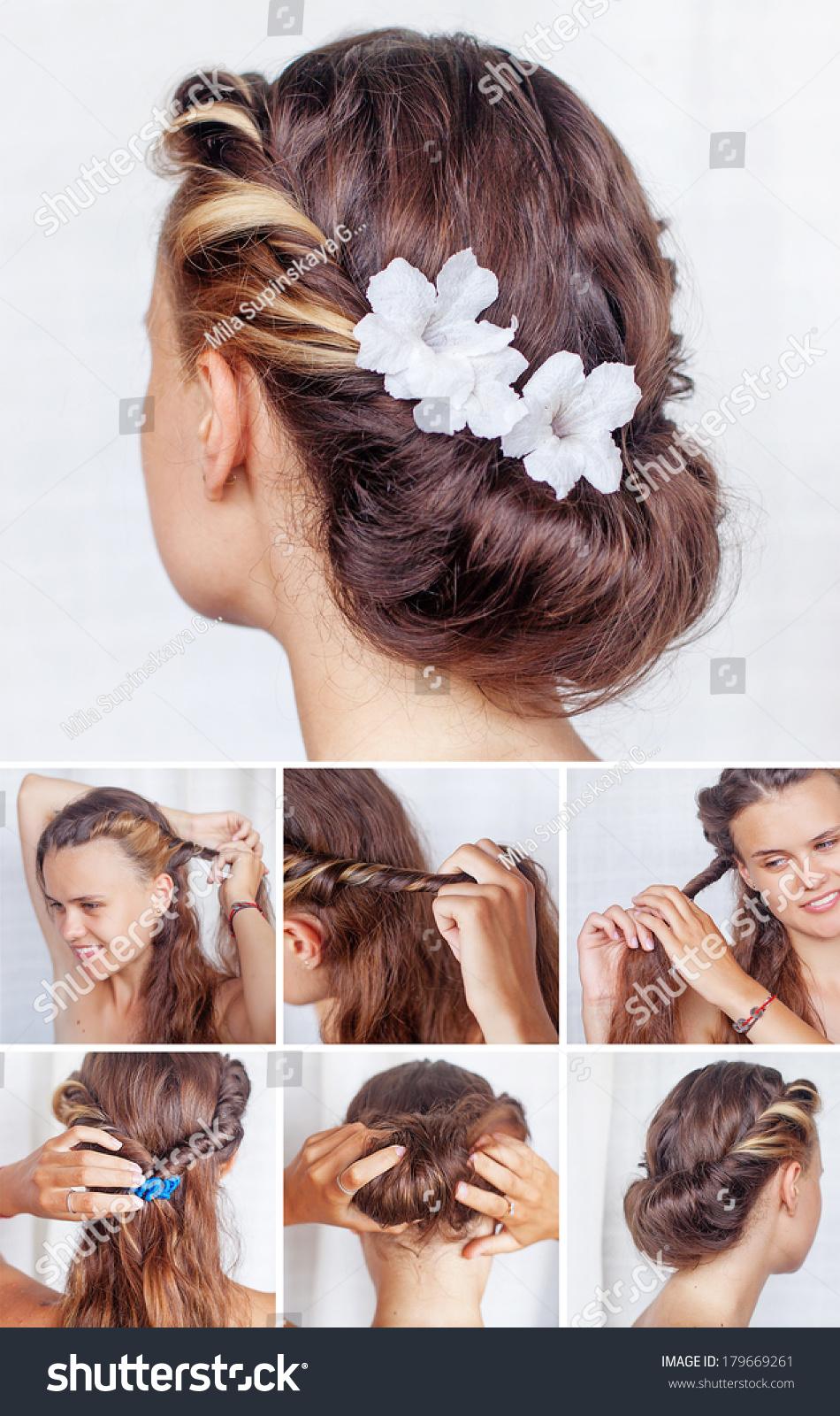 Simple Hairdo Tutorial Stock Photo Edit Now 179669261 Shutterstock