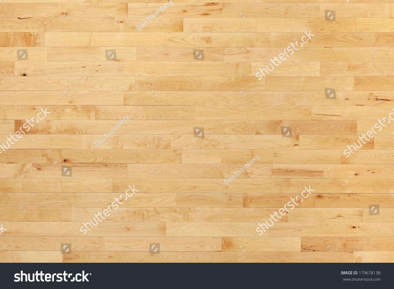 Hardwood maple basketball court floor viewed from above - Hardwood Maple Basketball Court Floor Viewed Stock Photo 179678138