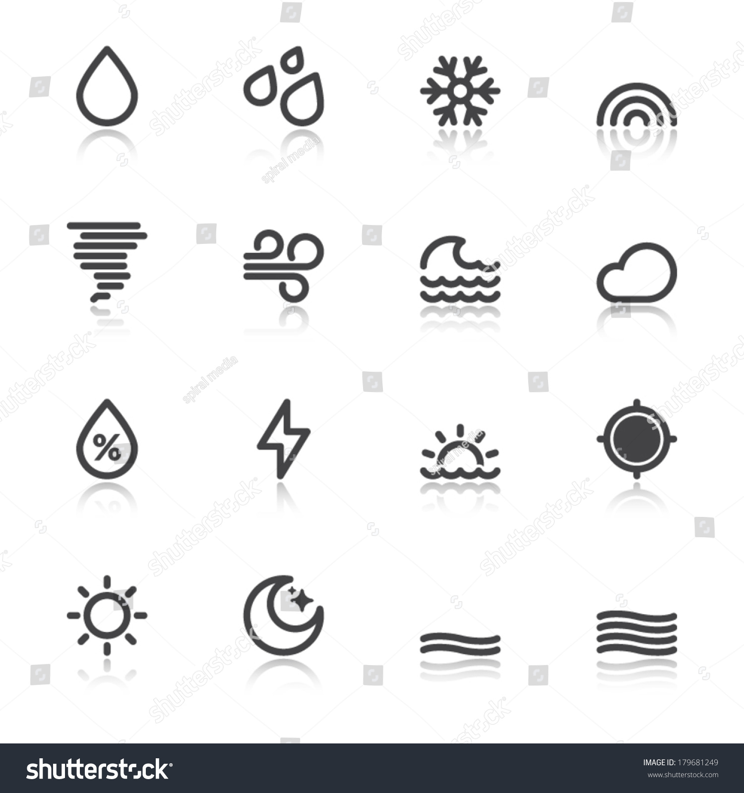Colorful Icons About The Weather Forecast Symbols 1 Ez Canvas