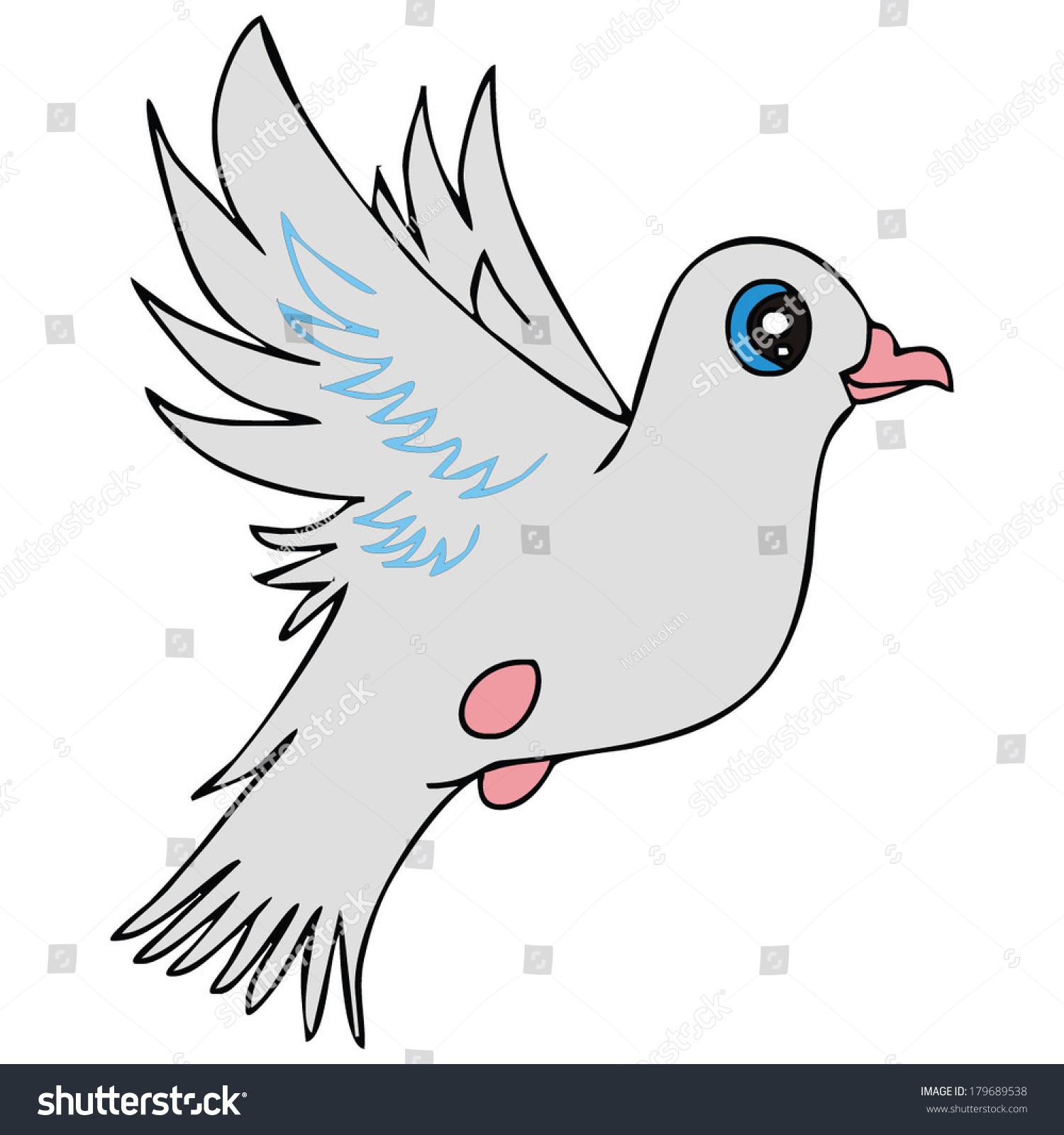 Dove Bird Peace Symbol Vector Illustration Stock Vector Royalty