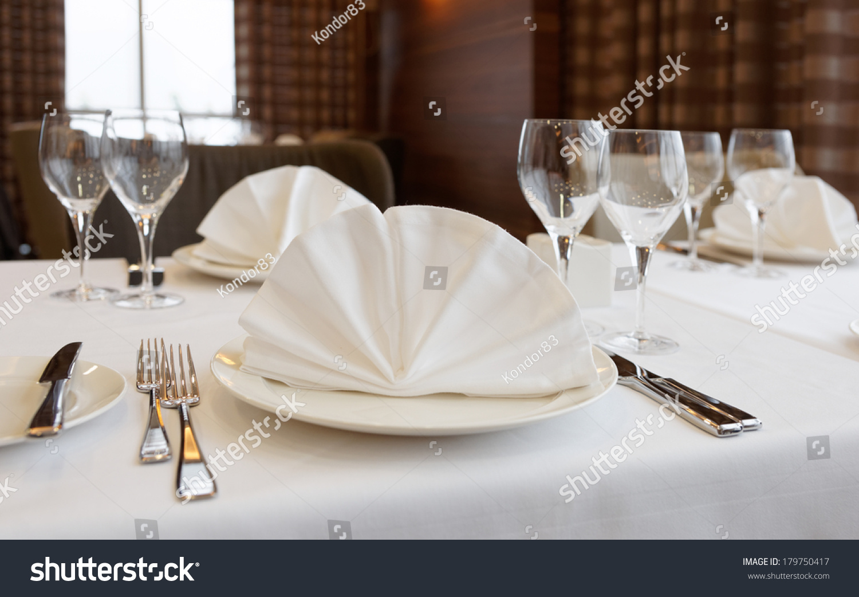 Table Arrangement Expensive Haute Cuisine Restaurant Food And