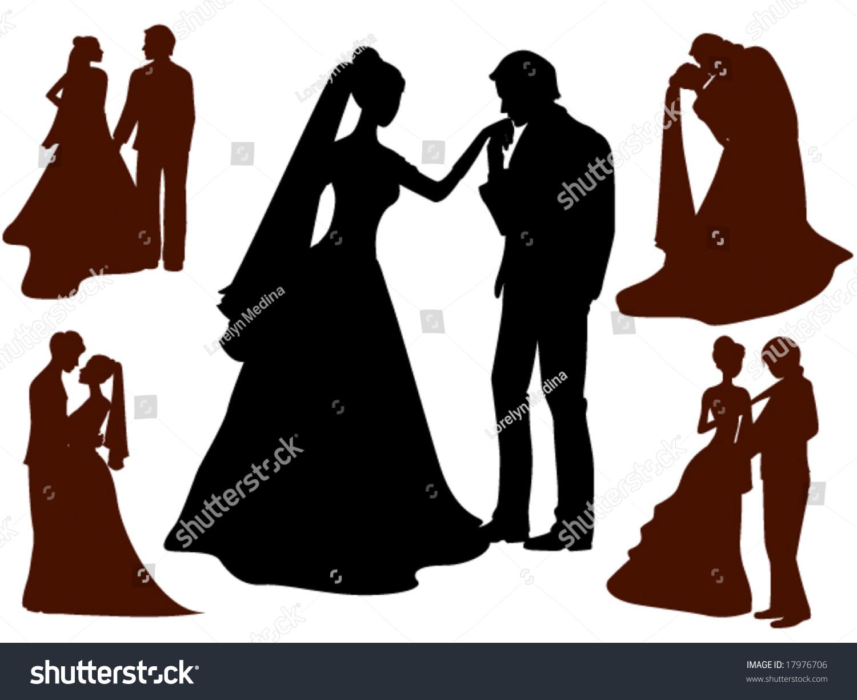 Wedding Silhouettes Vector Stock Vector 17976706 ...