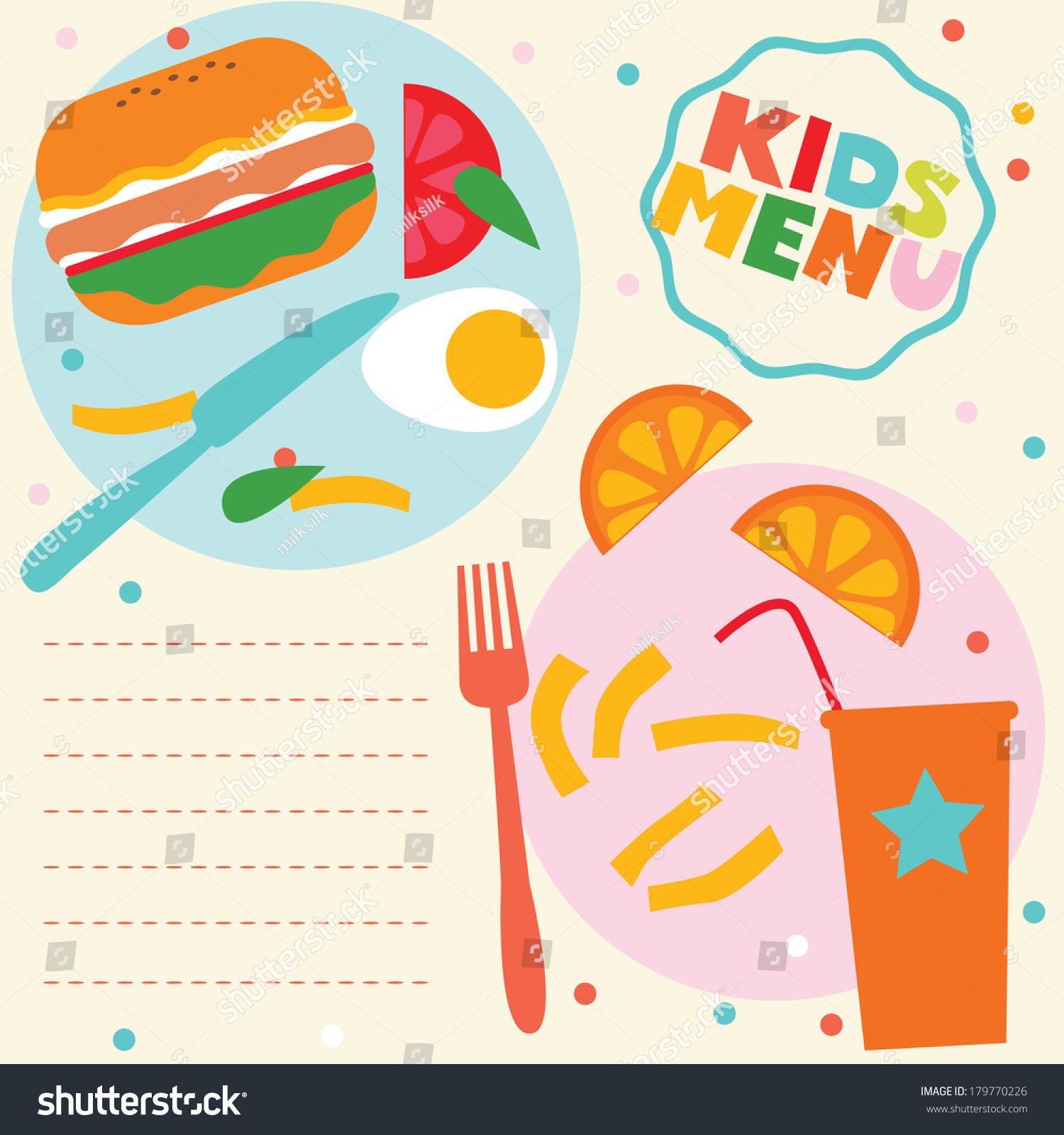 Kids menu template stock vector 179770226 shutterstock kids menu template pronofoot35fo Gallery