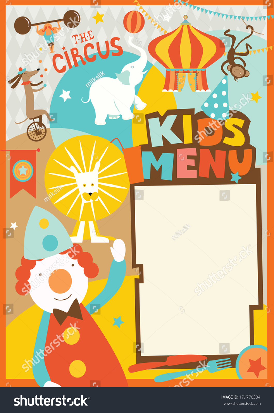 Menu Templates For Kids certification of appreciation wording – Kids Menu Templates