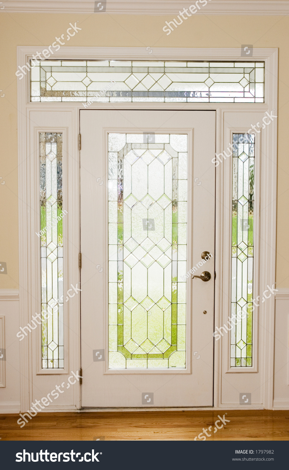 nice front door from interior view stock photo 1797982