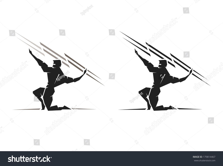 Illustration Of The Greek God Zeus Throwing A Bolt Of ...