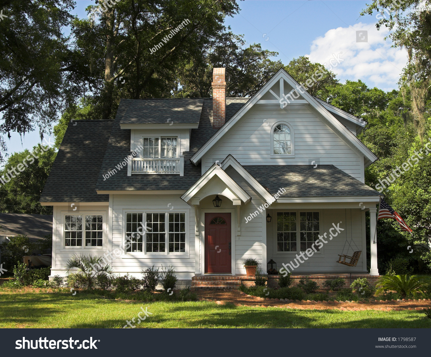 Quaint two story home exterior front stock photo 1798587 for Exterior 2 story homes