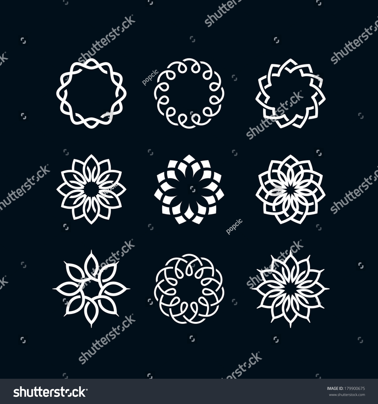 Abstract Flower Symbols Stock Vector Shutterstock