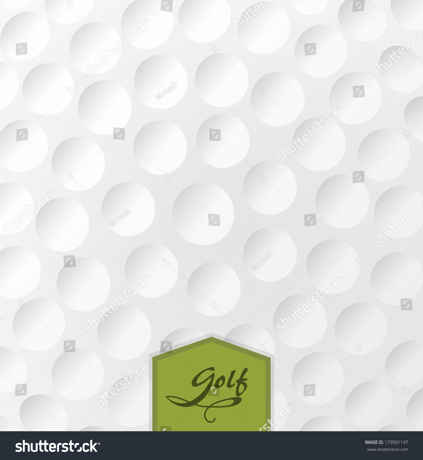 golf backgrounds realistic rendition golf ball stock vector
