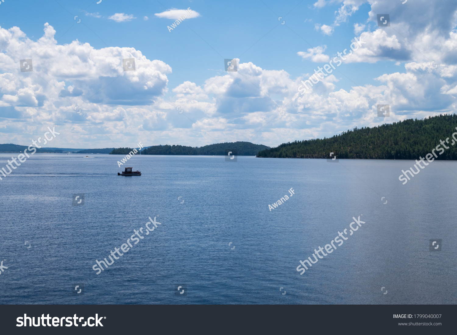 stock-photo-beautiful-view-of-a-boat-on-