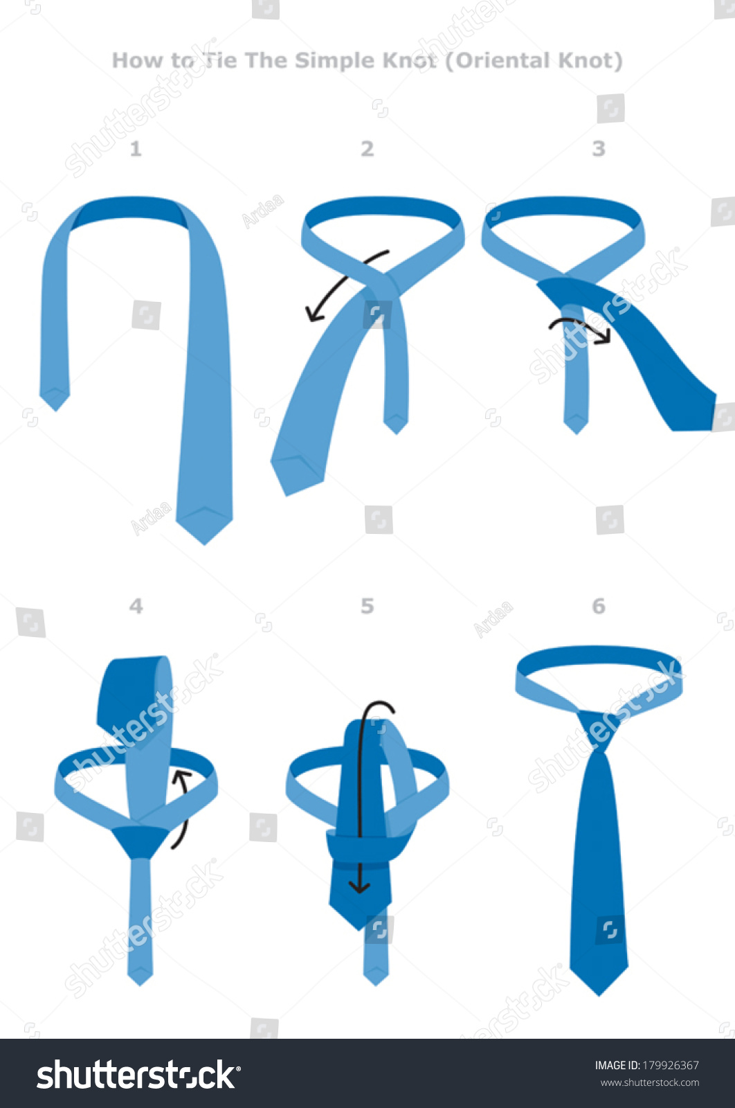 Simple Knot Tying Instructions Flat Vector Stock Vector 179926367
