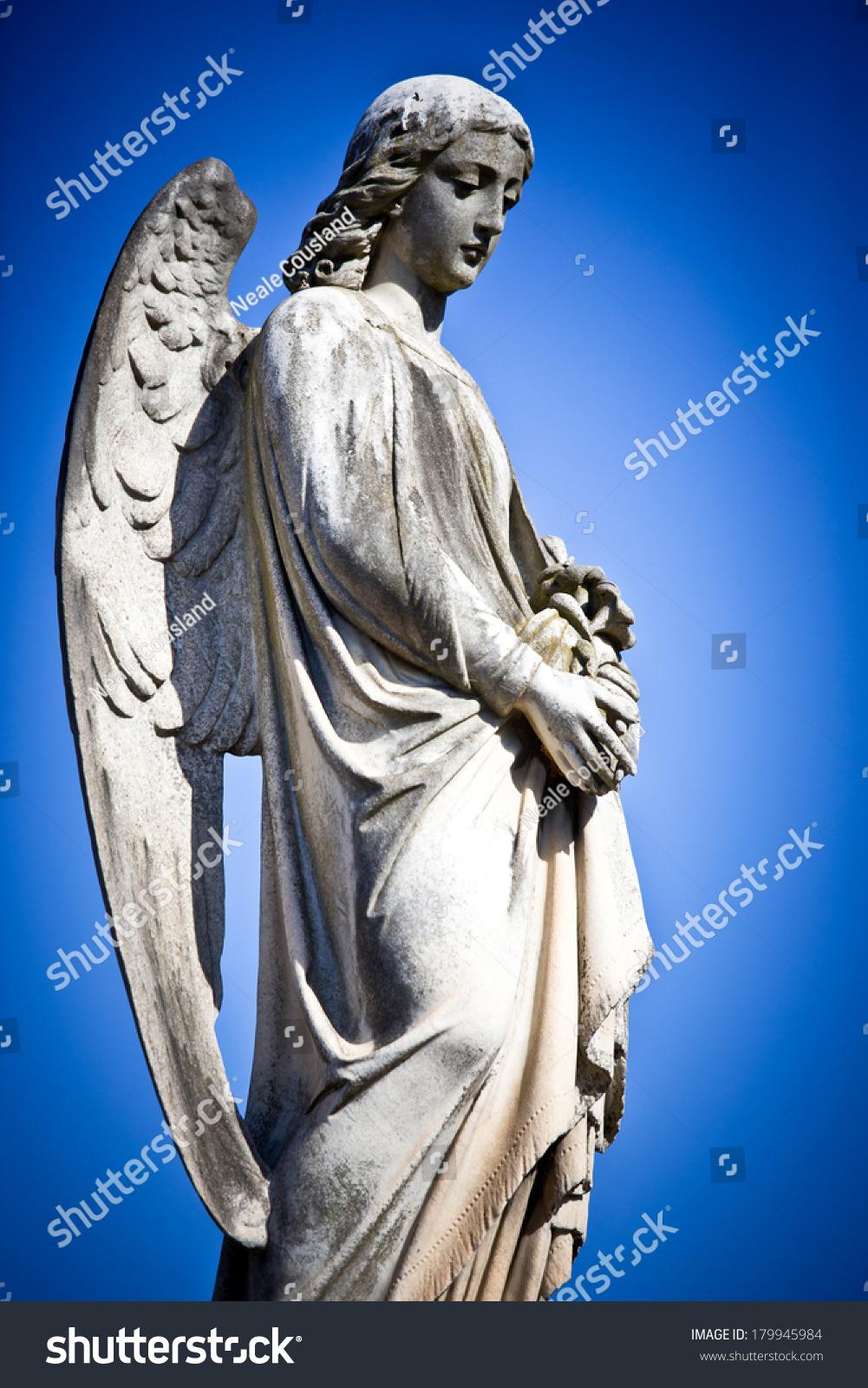 Beautiful sculpture cemetery melbourne australia stock
