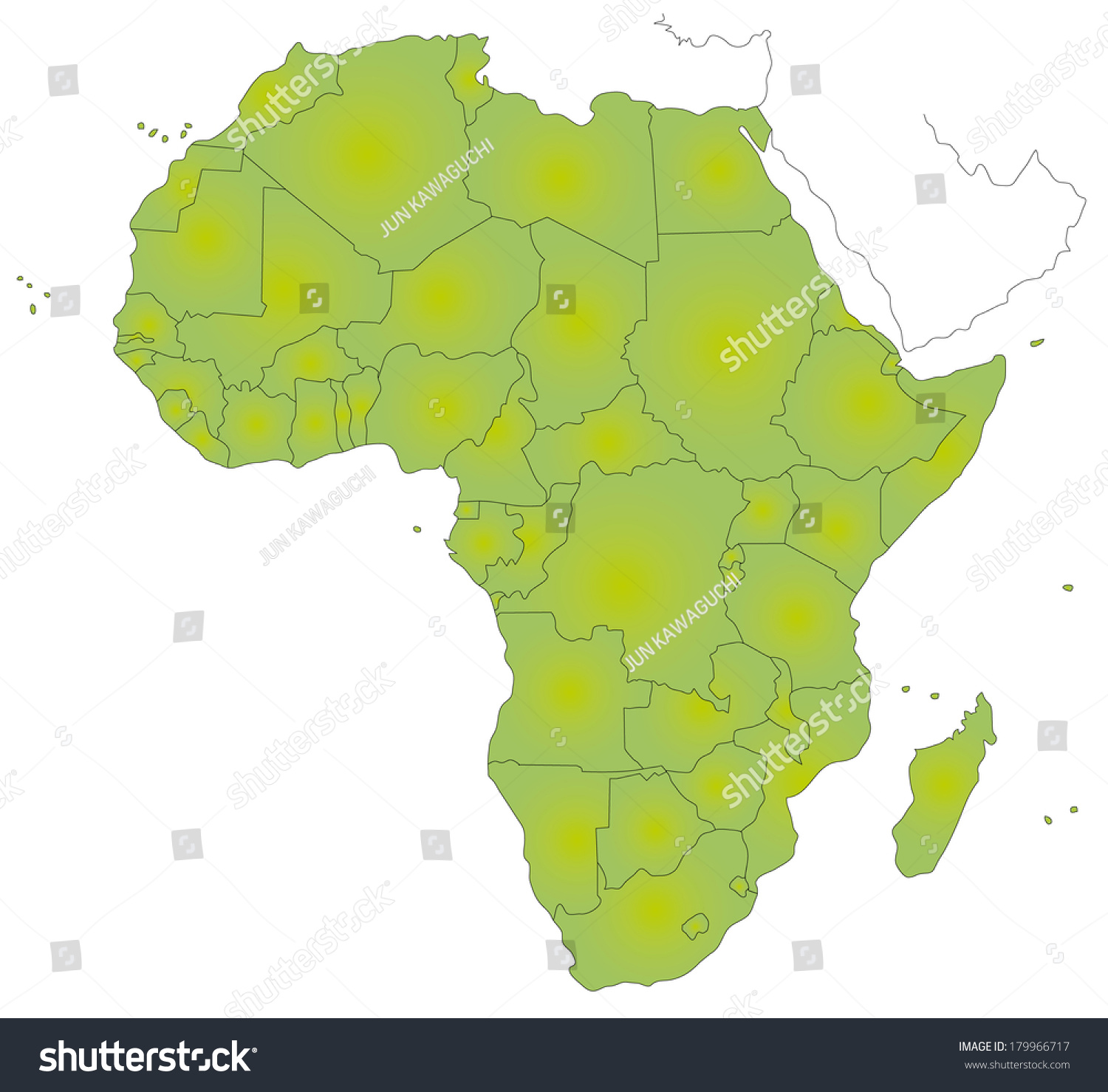 A Simple Map Of Africa