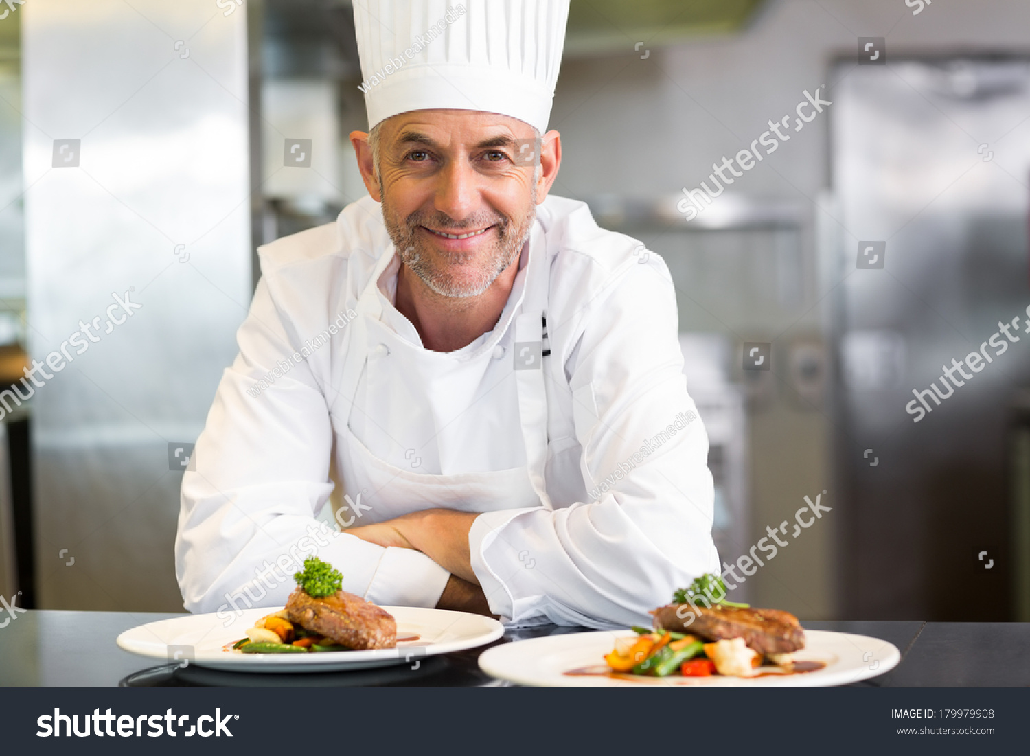 Portrait Confident Male Chef Cooked Food Stock Photo (Edit Now ...