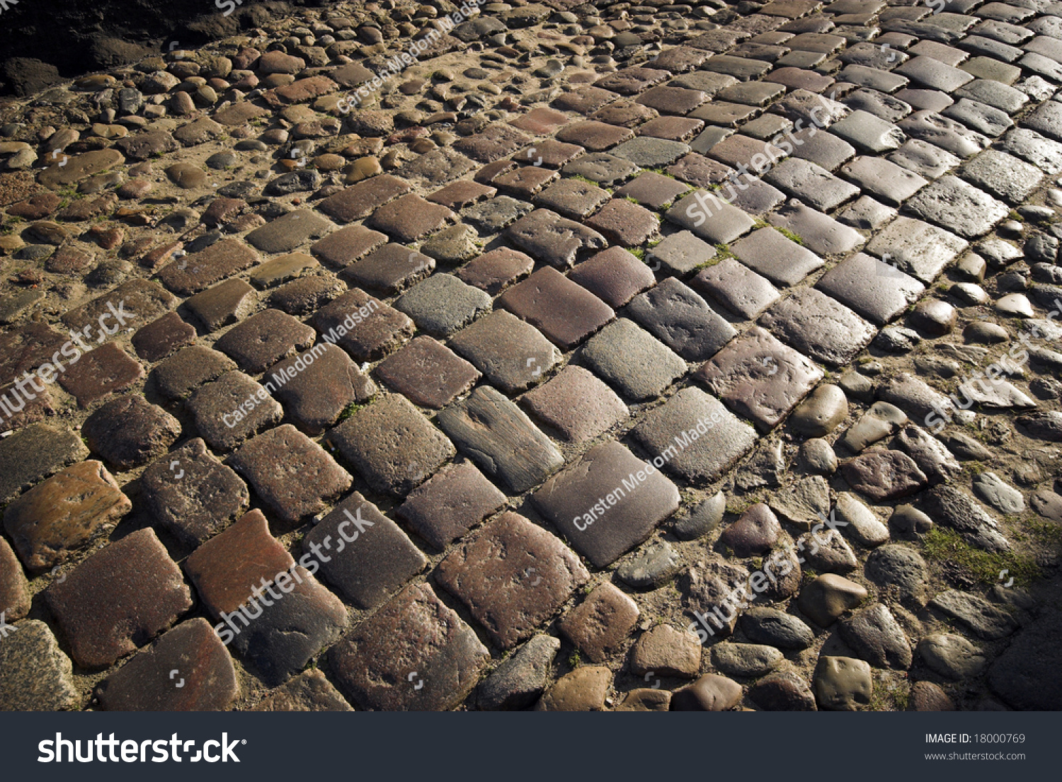 Cobblestone Road Old Vintage Cobblestone Road In Old Town