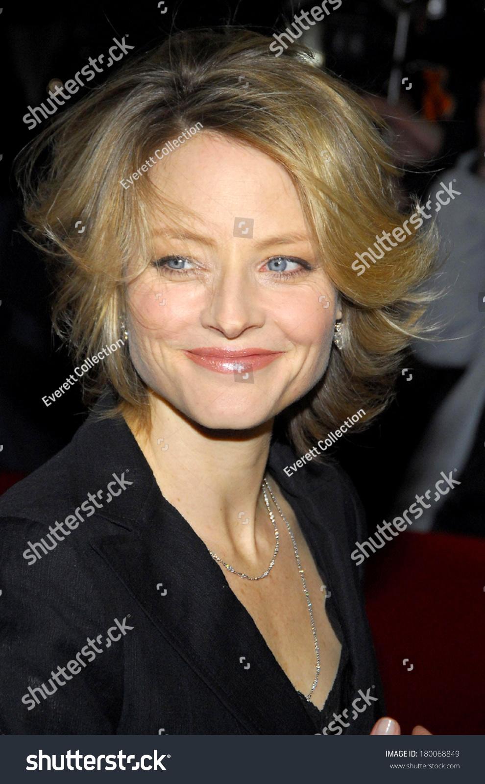 Jodie Foster Inside Man Premiere Ziegfeld Stock Photo Edit Now